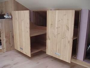 Meuble Pour Sous Pente : rangement en sous pente maison design ~ Melissatoandfro.com Idées de Décoration