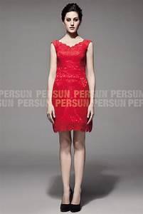 Robe Rouge Mariage Invité : vintage courte robe cort ge mariage en dentelle rouge encolure v ~ Farleysfitness.com Idées de Décoration
