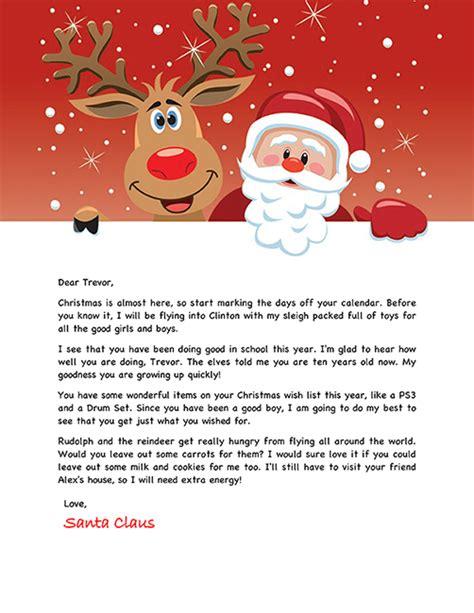 santa letter holiday christmas santa template