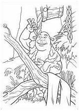 Coloring Shrek sketch template
