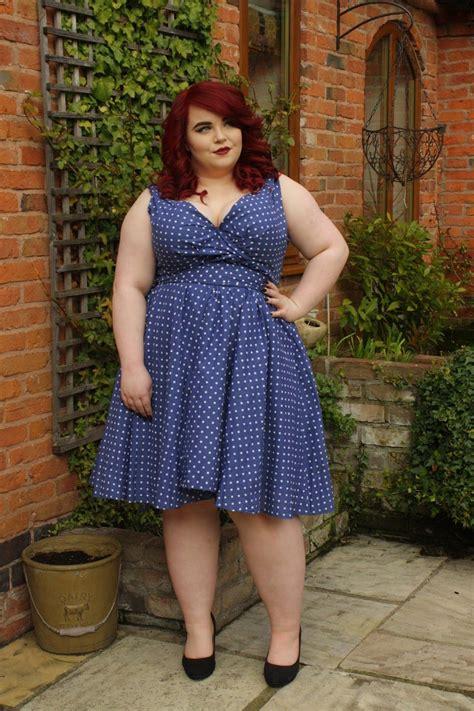 BBW Couture Blue Polka Dot 1950s Vintage Party Dress vintage plus size plus size fashion ...