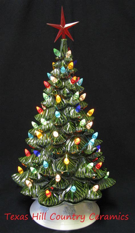 tall vintage ceramic christmas tree  electric