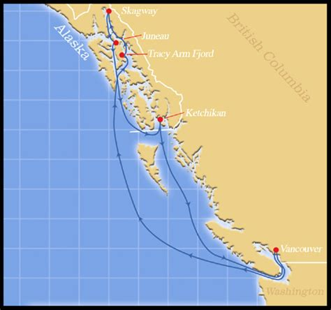 Ship Route by Cruise Ship Route Vancouver To Alaska Fitbudha