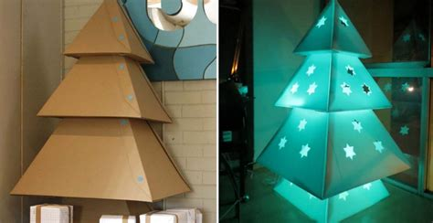 how to make cardboard christmas tree diy crafts