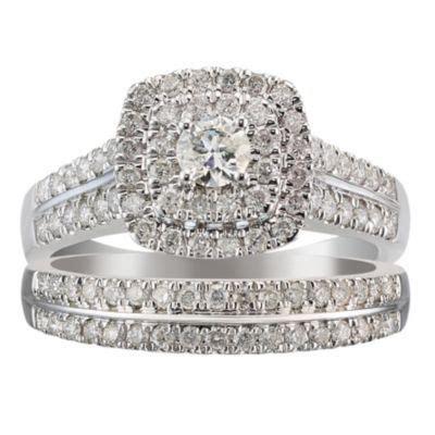 18ct white gold one carat diamond halo bridal ring ernest jones stuff to buy one carat