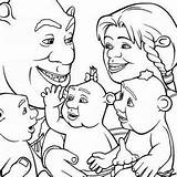 Shrek Coloring Cartoon Colorluna sketch template