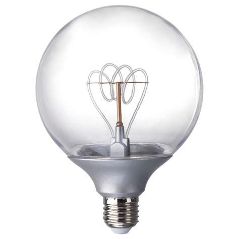 e26 light bulb home depot nittio led bulb e27 20 lumen globe silver colour 120 mm ikea