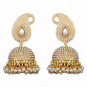 Buy Traditional Indian Bollywood Necklace Set Golden Pearl