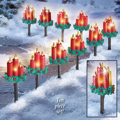 pathway christmas yard candles candle outdoor path lights from collections etc