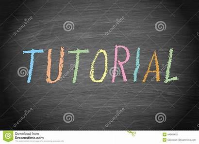 Tutorial Chalk Word Colored Blackboard Written Uppercase