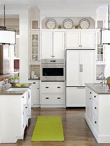 ideas for decorating above kitchen cabinets With kitchen colors with white cabinets with christmas stair stickers