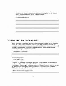 Parenting plan form georgia free download for Long distance parenting plan template