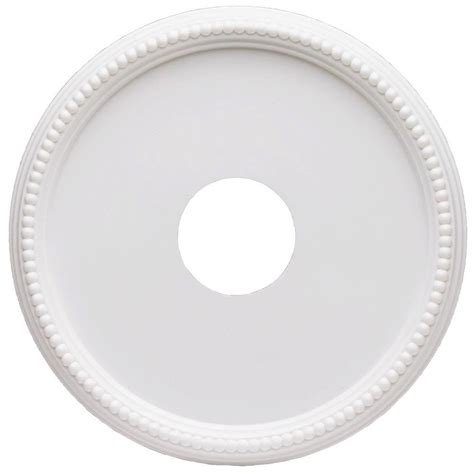 westinghouse split ceiling medallion westinghouse 16 in beaded white finish ceiling medallion