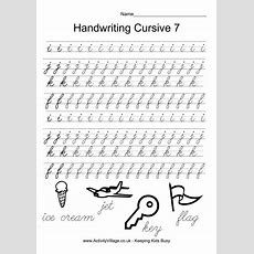 Handwriting Practice Cursive 7  *♣* Smart Kids Printables *♣*  Pinterest Handwriting