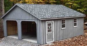 2 car prefab garages prefab two car garage horizon With 24x24 wood garage kit