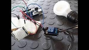 Accensione Lampada Con Sensore Pir E Rele