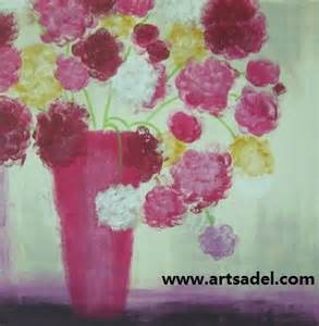 100% Handmade decoration flower oil painting on canvas