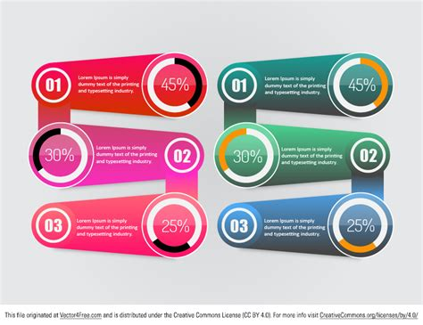graphic templates free infographic vector template
