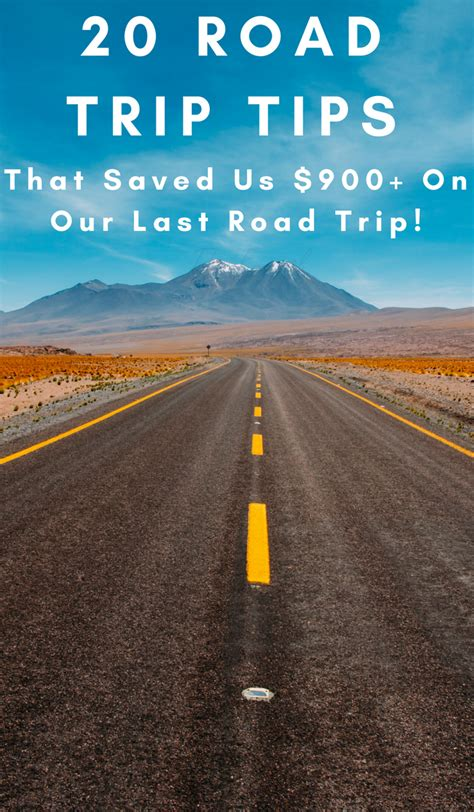 20 Tips For Road Trips  That Saved Us Over $900 On Our