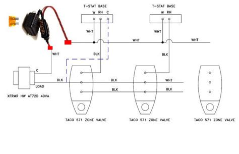 similiar 4 wire zone valve wiring diagram keywords pull common taco zone valve xfrmr wifi tstat