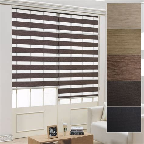 Custom Made Window Blinds by Details About B C 95 Black Out Roller Zebra Shade