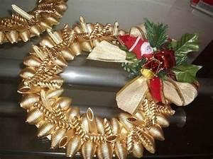 Weihnachtskranz Selber Basteln : 50 ideen f r basteln mit nudeln zu weihnachten ~ Eleganceandgraceweddings.com Haus und Dekorationen