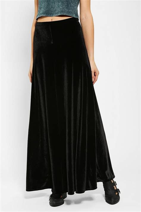 Ecote Half-Moon Velvet Maxi Skirt | To $ave For