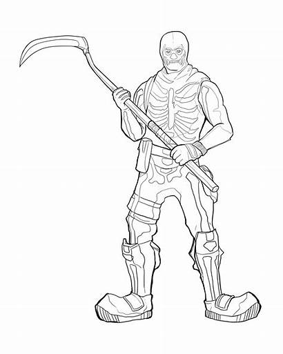 Coloring Colouring Pages Fortnite Characters Skin Renegade