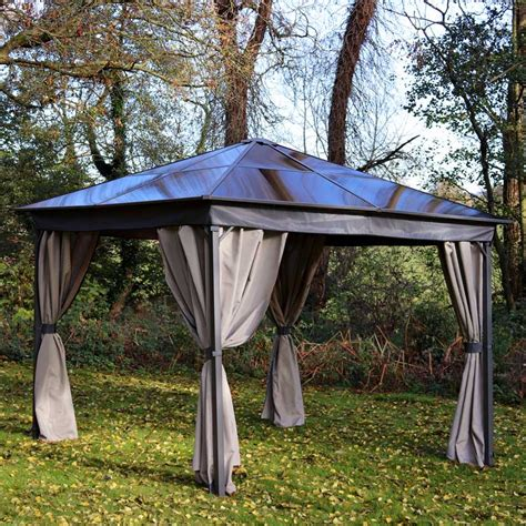 gazebos with polycarbonate roof rome polycarbonate 3m 3m gazebo graphite grey my new gazebo