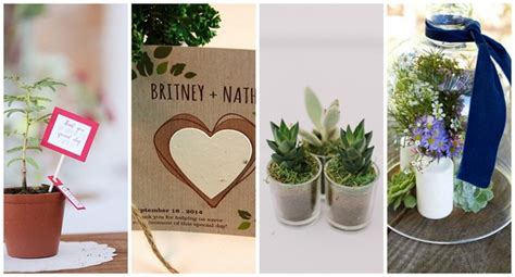 18 cute and thoughtful eco friendly wedding favor ideas