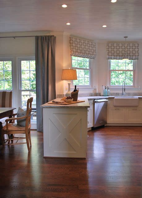 images of kitchen islands like the gray printed shades and the barnwood look 4640