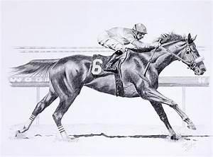 Bring On The Race Zenyatta Drawing by Joette Snyder