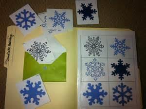 Snowflake File Folder Game