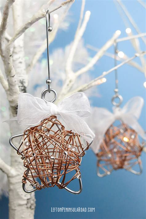 diy wire wrapped star christmas ornament