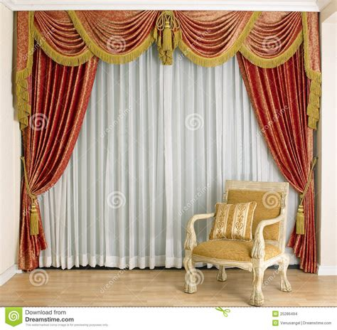 Beautiful Curtain In Living Room Stock Photo Image 25286494
