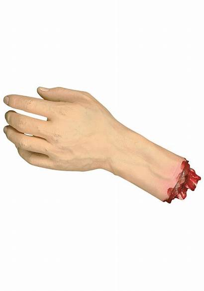 Severed Hand Human Halloween Realistic Parts Decapitated