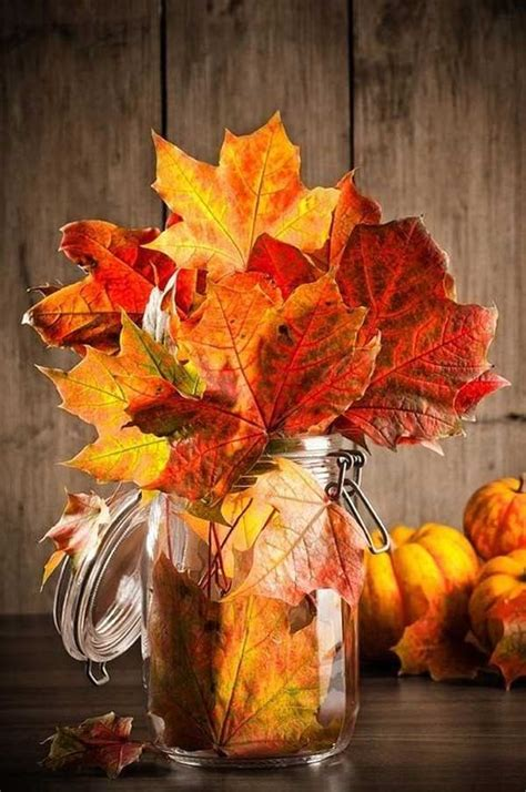 28 diy fall inspired home decorations with leaves