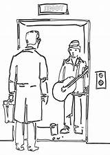 Elevator Coloring Pages sketch template