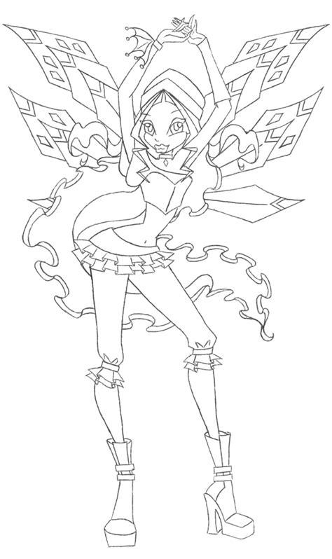 disegni da colorare winx stella sta disegno di winx aisha da colorare