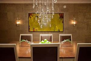 contemporary dining room with droplet crystal chandelier With contemporary crystal dining room chandeliers
