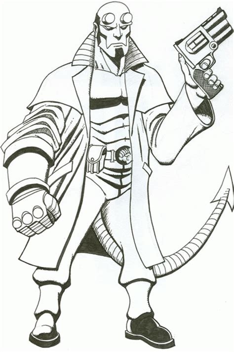 dessin  imprimer du net coloriage hellboy