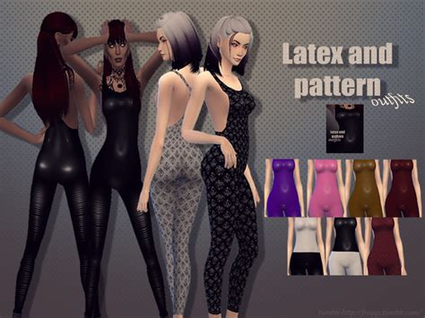 freqqys latex  pattern outfits