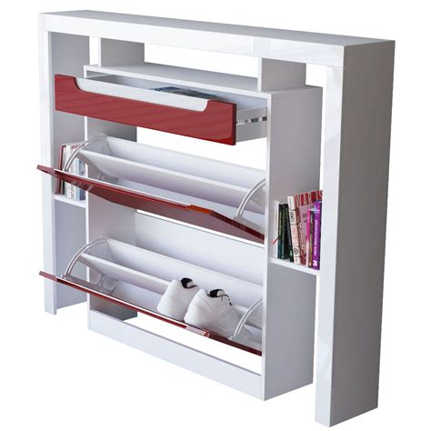armoire metallique de bureau meuble chaussure blanc laqu