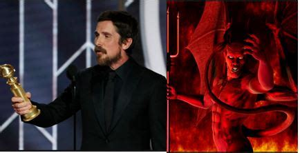 Golden Globes American Actor Christian Bale Thanks