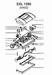 Electrolux Exl1250 204022 Central Vac Parts