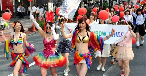 Rainbow parade celebrates LGBT equality push | The Japan Times