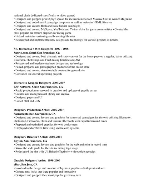 Professional Graphics Designer Production Artist Resume