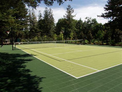 backyard tennis court backyard tennis courts