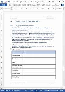 Business rules templates ms word excel for Business rules template word