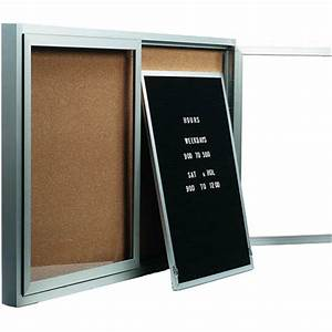 removable letter panels for enclosed bulletin boards With removable letter board